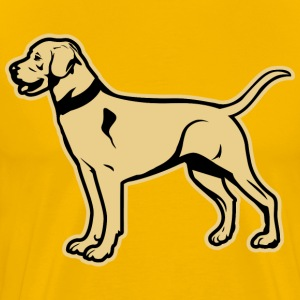 Yellow Labrador Retriever T-Shirts - Men's Premium T-Shirt