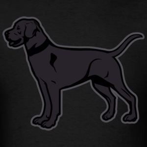 Dogs - Black Labrador Breed Or Black Lab T-Shirts - Men's T-Shirt