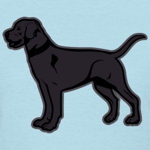 Dogs - Black Labrador Breed Or Black Lab Women's T-Shirts - Women's T-Shirt