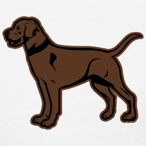 Brown Labrador or Chocolate Lab Graphic Women's T-Shirts - Women's T-Shirt