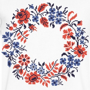 Weddings circle wild flowers - Men's V-Neck T-Shirt by Canvas