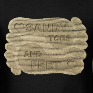 LOVE SANDY TOES AND FEET - Men's T-Shirt