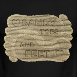 LOVE SANDY TOES AND FEET - Men's Ringer T-Shirt
