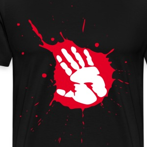 splash hand T-Shirts - Men's Premium T-Shirt