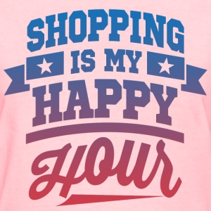 Shopping Is My Happy Hour Women's T-Shirts - Women's T-Shirt