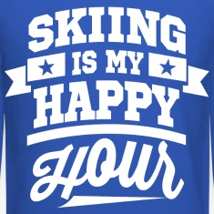 Skiing Is My Happy Hour Long Sleeve Shirts