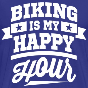 Biking Is My Happy Hour T-Shirts - Men's Premium T-Shirt
