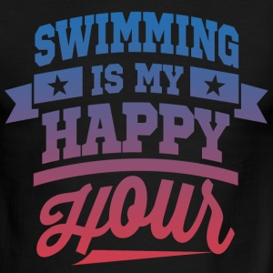 Swimming Is My Happy Hour T-Shirts - Men's Ringer T-Shirt
