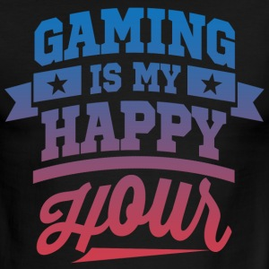 Gaming Is My Happy Hour T-Shirts - Men's Ringer T-Shirt