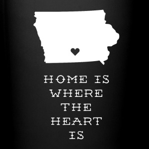 Iowa Home is Where the Heart is State T-shirt Mugs & Drinkware - Full Color Mug