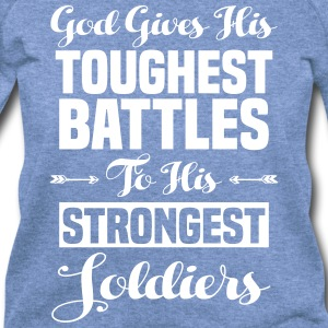 God's Toughest Battles - Women's Wideneck Sweatshirt