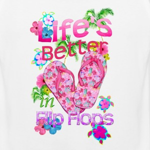 Life Is Better Flip Flops - Men's Premium Tank