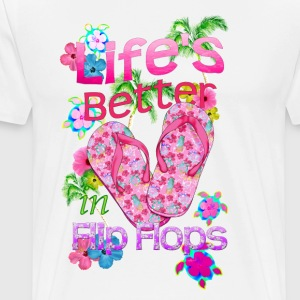 Life Is Better Flip Flops - Men's Premium T-Shirt