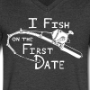 Fish First Date - Men's V-Neck T-Shirt by Canvas