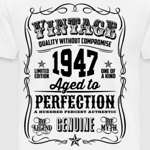 Vintage 1947 Aged to Perfection 69th Birthday gif - Men's Premium T-Shirt