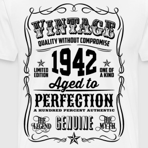 Vintage 1942 Aged to Perfection 74th Birthday gift - Men's Premium T-Shirt