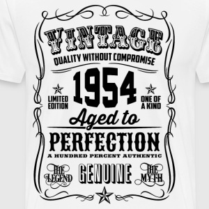 Vintage 1954 Aged to Perfection 62th Birthday gif - Men's Premium T-Shirt
