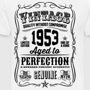 Vintage 1953 Aged to Perfection 63th Birthday - Men's Premium T-Shirt
