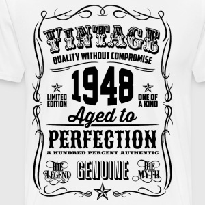Vintage 1948 Aged to Perfection 68th Birthday gif - Men's Premium T-Shirt