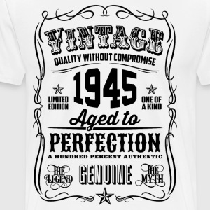 Vintage 1945 Aged to Perfection 71th Birthday gift - Men's Premium T-Shirt