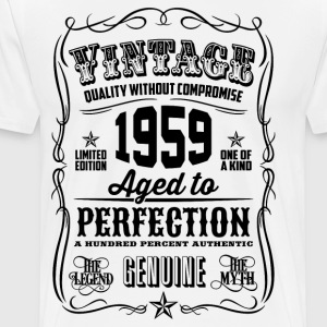 Vintage 1959 Aged to Perfection 57th Birthday  - Men's Premium T-Shirt