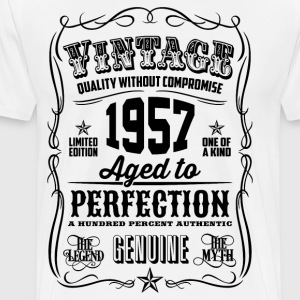 Vintage 1957 Aged to Perfection 59th Birthday - Men's Premium T-Shirt