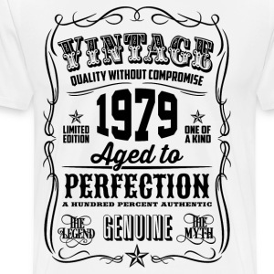 Vintage 1979 Aged to Perfection 37th Birthday gift - Men's Premium T-Shirt
