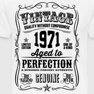 Vintage 1971 Aged to Perfection 45th Birthday gif - Men's Premium T-Shirt