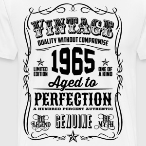 Vintage 1965 Aged to Perfection 51th Birthday gif - Men's Premium T-Shirt