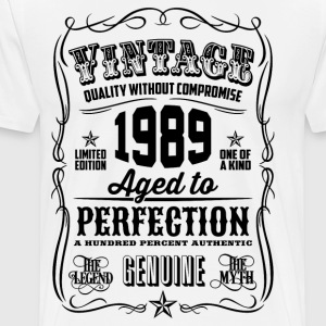 Vintage 1989 Aged to Perfection 27th Birthday gift - Men's Premium T-Shirt