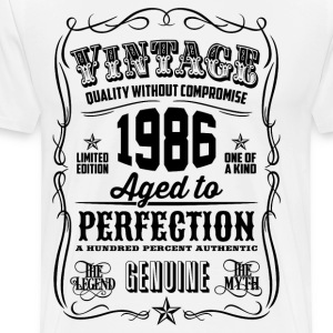 Vintage 1986 Aged to Perfection 30th Birthday gift - Men's Premium T-Shirt