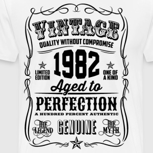 Vintage 1982 Aged to Perfection 34th Birthday gift - Men's Premium T-Shirt