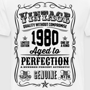Vintage 1980 Aged to Perfection 36th Birthday gift - Men's Premium T-Shirt