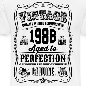 Vintage 1988 Aged to Perfection 28th Birthday gift - Men's Premium T-Shirt