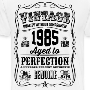 Vintage 1985 Aged to Perfection 31th Birthday - Men's Premium T-Shirt