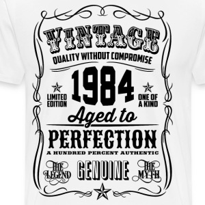Vintage 1984 Aged to Perfection 32th Birthday gif - Men's Premium T-Shirt