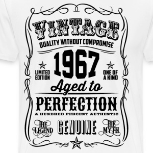 Vintage 1967 Aged to Perfection 49th Birthday gift - Men's Premium T-Shirt