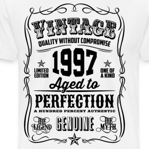 Vintage 1997 Aged to Perfection 19 Birthday gift - Men's Premium T-Shirt