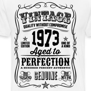 Vintage 1973 Aged to Perfection 43th Birthday gif - Men's Premium T-Shirt