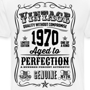 Vintage 1970 Aged to Perfection 46th Birthday gift - Men's Premium T-Shirt
