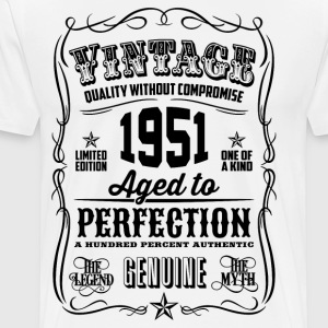 Vintage 1951 Aged to Perfection 65th Birthday - Men's Premium T-Shirt
