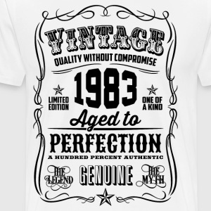 Vintage 1983 Aged to Perfection 33th Birthday - Men's Premium T-Shirt