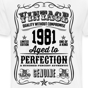 Vintage 1981 Aged to Perfection 35th Birthday - Men's Premium T-Shirt