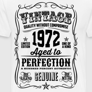 Vintage 1972 Aged to Perfection 44th Birthday gift - Men's Premium T-Shirt