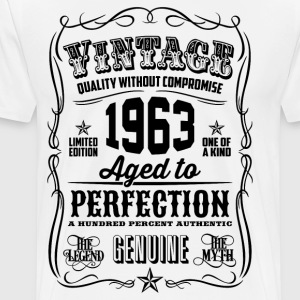 Vintage 1963 Aged to Perfection 53th Birthday gift - Men's Premium T-Shirt