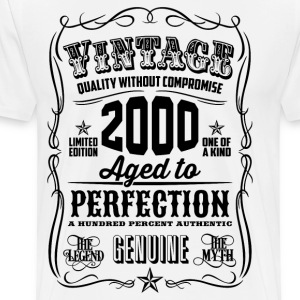 Vintage 2000 Aged to Perfection 16 Birthday gift - Men's Premium T-Shirt
