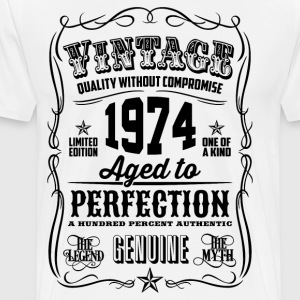 Vintage 1974 Aged to Perfection 42th Birthday  - Men's Premium T-Shirt