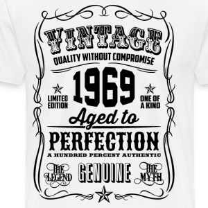 Vintage 1969 Aged to Perfection 47th Birthday gift - Men's Premium T-Shirt