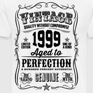 Vintage 1999 Aged to Perfection 17 Birthday gift - Men's Premium T-Shirt
