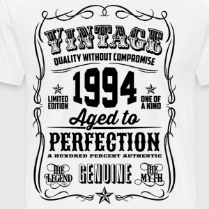 Vintage 1994 Aged to Perfection 22 Birthday gift - Men's Premium T-Shirt